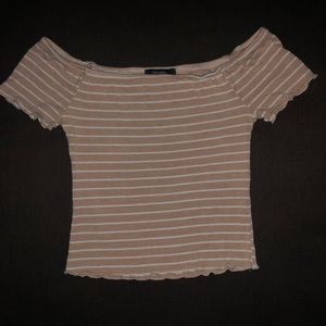 Pink and White Striped Forever 21 Top